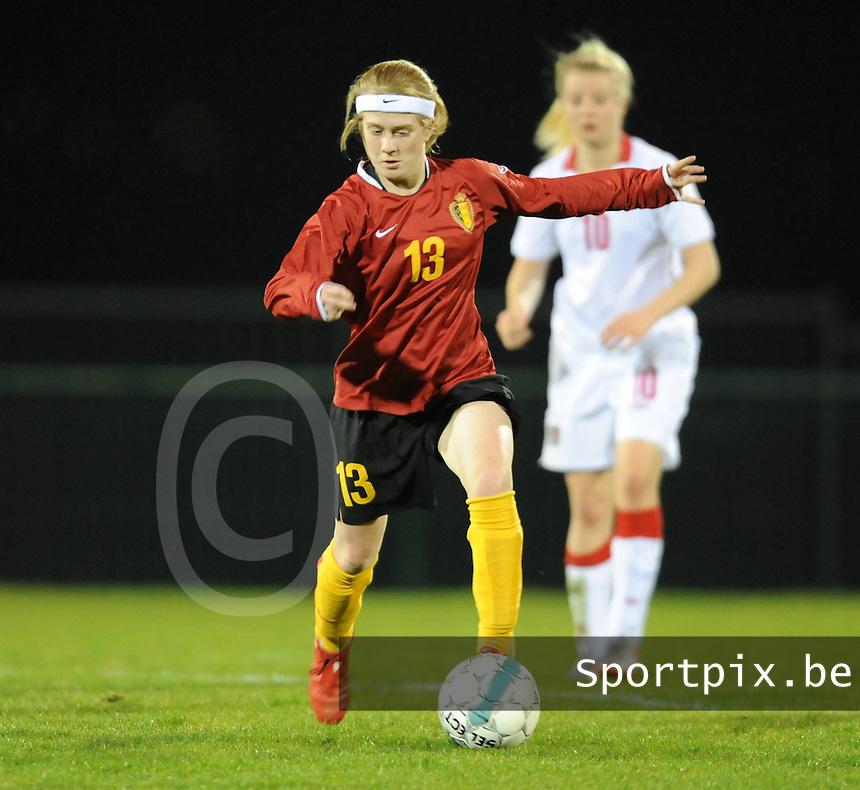 Nationaal Elftal U19 Dames Rode Duivelinnen : Silke Demeyere.foto VDB / BART VANDENBROUCKE
