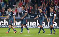 Fussball  1. Bundesliga  Saison 2013/2014  4. Spieltag SC Freiburg - FC Bayern Muenchen        27.08.2013 Enttaeuschung FC Bayern Muenchen; Diego Contento,  Dante, Rafinha und Philipp Lahm (v.li.)