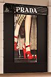 Prada Red Shoes - Prada shopfront display window, Hay Street, Perth, Western Australia.