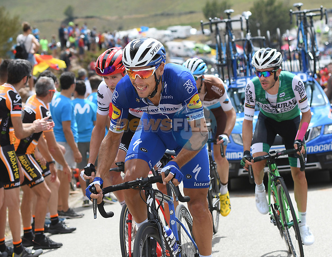 Philippe Gilbert (BEL) Deceuninck-Quick Step during Stage 15 of La Vuelta 2019  running 154.4km from Tineo to Santuario del Acebo, Spain. 8th September 2019.<br /> Picture: Karlis | Cyclefile<br /> <br /> All photos usage must carry mandatory copyright credit (© Cyclefile | Karlis/Photogomezsport)