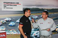 Rob Owen, Porsche One-Make Program Manager, John Hindhaugh. GT3 Banquet