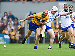 Peter Duggan of Clare  in action against Shane Mc Nulty of Waterford during their Munster  championship round robin game at Cusack Park Photograph by John Kelly.