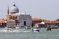 Veduta dal mare della Chiesa del Redentore a Venezia<br /> View from the sea of the Redentore church in Venice.<br /> UPDATE IMAGES PRESS/Riccardo De Luca