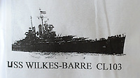 The USS Wilkes Barre where Bernie Gerson, 90, of Warrington, Pennsylvania and Ralph Kelly, 90 of Plymouth Meeting, Pennsylvania were stationed during World War II is seen Saturday February 20, 2016 at California Kitchen in Plymouth Meeting, Pennsylvania. (Photo by William Thomas Cain)