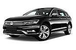 Stock pictures of low aggressive front three quarter view of 2016 Volkswagen Passat Alltrack 5 Door Wagon Low Aggressive