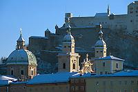 Altstadtkirchen und Festung in Salzburg,Österreich
