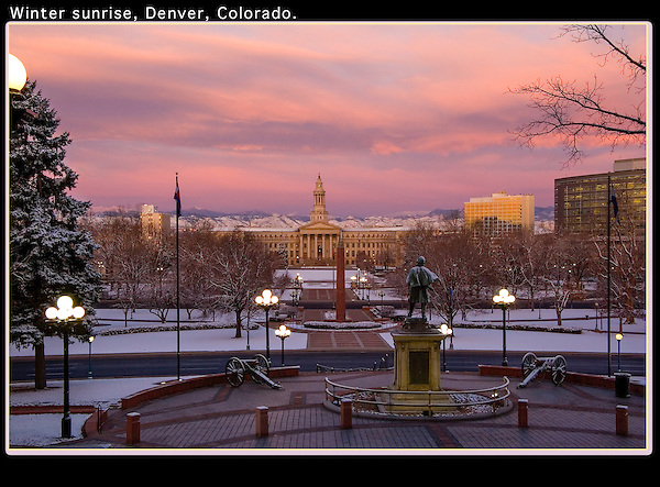 Nothing's better than getting up real early after a fresh snow, driving for an hour, then waiting for a sunrise. <br />