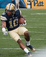 Pitt wide receiver Quadree Henderson (10). The Pitt Panthers defeated the Youngstown State Penguins 28-21 in overtime at Heinz Field, Pittsburgh, Pennsylvania on September 02, 2017.