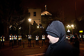 WARSAW, POLAND, December 17, 2016<br /> Police is guarding Sejm, the Polish parliament, constantly since the beginning of the Parliamentary crisis and the standoff of dialagoue. Late night demonstration of the oposition parties and KOD by the Sejm (Polish parliament)<br /> The opposition objects to government plans to limit the number of journalists allowed to cover parliamentary proceedings. The MPs' protest delayed a budget vote, which was later held away from the main parliament chamber. <br /> (Photo by Piotr Malecki / Napo Images)<br /> ****<br /> WARSZAWA, 17.12.2016. <br /> Nocna manifestacja opozycji pod sejmem w obronie wolnosci mediow <br /> Fot. Piotr Malecki / Napo Images<br /> <br /> ###ZDJECIE MOZE BYC UZYTE W KONTEKSCIE NIEOBRAZAJACYM OSOB PRZEDSTAWIONYCH NA FOTOGRAFII### ### Cena zdjecia w/g cennika FORUM plus 50% (cena minimalna 100 PLN)
