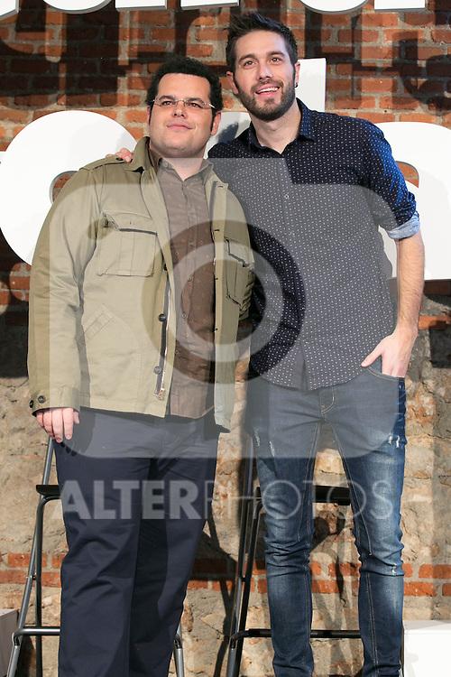 "Dani Martinez and Josh Gad attends the ""The Wedding Ringer"" Presentation at Matadero, Madrid,  Spain. February 05, 2015.(ALTERPHOTOS/)Carlos Dafonte)"