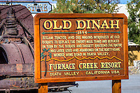 """Old Dinah"" Steam Tractor replaced the Twenty Mule Teams for hauling borax in Death Valley in 1894."