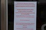 20.03.2020, Innenstadt, Solingen,  GER, NRW, Solingen, Corona Virus, Auswirkungen, <br /> <br /> im Bild / picture shows: <br /> Geschaeftsschliessungen, <br /> Foto © nordphoto / Meuter