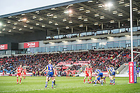 Picture by Allan McKenzie/SWpix.com - 04/03/2017 - Rugby League - Betfred Super League - Salford Red Devils v Warrington Wolves - AJ Bell Stadium, Salford, England - A general view of Salford playing Warrington at the AJ Bell stadium.