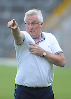 13-08-2014 : Pat Spillane, manager of the Kenmare District  team, issues instructions during the  Kerry U-21 football Championship final at Fitzgerald Stadium, Killarney,  on Wednesday night. Picture: Eamonn Keogh (MacMonagle, Killarney)