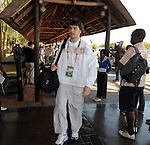 FUDBAL, NELSPRUIT, 24. Jun. 2010. - Fudbaler Srbije Vladimir Stojkovic na aerodromu u Nelspruitu. Reprezentacije Srbije zavrsila je ucesce na Svetskom prvenstvu u Juznoj Africi nakon poraza od Australije rezultatom 2:1. Foto: Nenad Negovanovic
