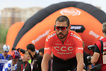 Patrick Bevin (NZL) CCC Team arrives at sign on before the start of Stage 4 of La Vuelta 2019 running 175.5km from Cullera to El Puig, Spain. 27th August 2019.<br /> Picture: Eoin Clarke | Cyclefile<br /> <br /> All photos usage must carry mandatory copyright credit (© Cyclefile | Eoin Clarke)