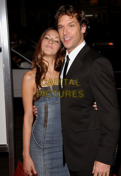 "DANE COOK & GUEST.The Lions Gate Premiere of ""Employee of the Month"" held at The Grauman's Chinese Theatre in Hollywood, California, USA..September 19th, 2006.Ref: DVS.half length black suit jacket couple blue dress.www.capitalpictures.com.sales@capitalpictures.com.©Debbie VanStory/Capital Pictures"