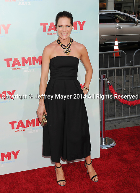 HOLLYWOOD, CA- JUNE 30: Actress Katie Aselton arrives at the 'Tammy' - Los Angeles Premiere at TCL Chinese Theatre on June 30, 2014 in Hollywood, California.