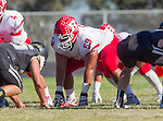 Palos Verdes, CA 10/24/14 - Alex Maimot (Redondo Union #59)in action during the Redondo Union - Palos Verdes Peninsula CIF Varsity football game at Peninsula High School.