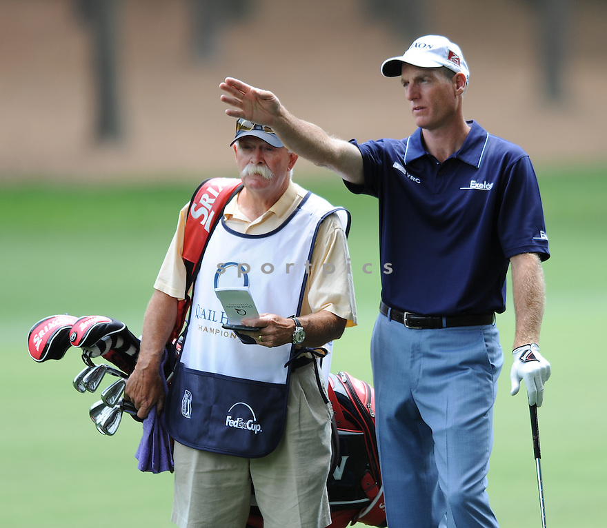 JIM FURYK, during the second round of the Quail Hollow Championship, on May 1, 2009 in Charlotte, NC.