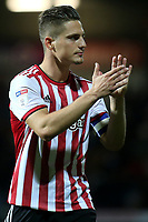 Serge Canos of Brentford applauds the home fans at the end of the match during Brentford vs Birmingham City, Sky Bet EFL Championship Football at Griffin Park on 2nd October 2018