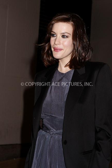 WWW.ACEPIXS.COM . . . . .  ....May 20, 2008. New York City.....Actress Liv Tyler leaves the MTV Studios in Times Square.......Please byline: AJ Sokalner - ACEPIXS.COM.... *** ***..Ace Pictures, Inc:  ..Philip Vaughan (646) 769 0430..e-mail: info@acepixs.com..web: http://www.acepixs.com