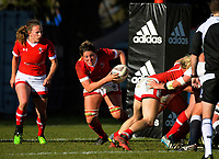 Kelly Russell breaks from the base of a scrum during the 2017 International Women's Rugby Series rugby match between England Roses and Canada at Rugby Park in Christchurch, New Zealand on Tuesday, 13 June 2017. Photo: Dave Lintott / lintottphoto.co.nz