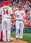 7 April 2016: Washington Nationals infielder Stephen Drew is introduced on the field prior to the Nationals' Home Opening Game against the Miami Marlins at Nationals Park in Washington, DC. The Marlins defeated the Nationals 6-4 in their first meeting of the 2016 MLB season. Mandatory Credit: Ed Wolfstein Photo *** RAW (NEF) Image File Available ***