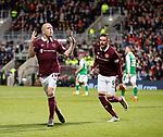 09.05.2018 Hearts v Hibs:  Steven Naismith celebrates as Hearts retake the lead