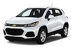 2017 Chevrolet Trax LS 5 Door SUV Angular Front stock photos of front three quarter view
