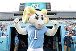 CHAPEL HILL, NC - NOVEMBER 18: UNC mascot Rameses. The University of North Carolina Tar Heels hosted the Western Carolina University Catamounts on November 18, 2017 at Kenan Memorial Stadium in Chapel Hill, NC in a Division I College Football game. UNC won the game 65-10.
