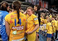 HC Leipzig : DVSC Korvex - Handball Damen Women Champions League - .Nach einem souveränen 31:25 Erfolg gegen den ungarischen Vize-Meister DVSC Korvex vor 2.747 Zuschauern in der Leipziger ARENA - im Bild: Maike Daniels. Porträt.   Foto: Norman Rembarz