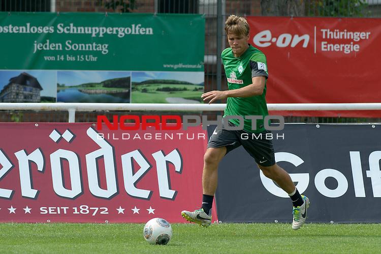 24.07.2013, Sportplatz, Blankenhain, GER, 1.FBL, Trainingslager Werder Bremen 2013, im Bild Clemens Fritz (Bremen #8)<br /> <br /> Foto &copy; nph / Frisch