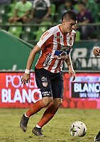 PALMIRA - COLOMBIA, 17-04-2019: Michael Rangel del Junior en acción durante el partido por la fecha 16 de la Liga Águila I 2019 entre Deportivo Cali y Atlético Junior jugado en el estadio Deportivo Cali de la ciudad de Palmira. / Michael Rangel of Junior in action during match for the date 16 between Deportivo Cali and Atletico Junior of the Aguila League I 2019 played at Deportivo Cali stadium in Palmira city .  Photo: VizzorImage / Gabriel Aponte / Staff