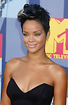 LOS ANGELES, CA. - September 07: Singer Rihanna arrives at the 2008 MTV Video Music Awards at Paramount Pictures Studios on September 7, 2008 in Los Angeles, California.