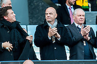 FIFA president Gianni Infantino prior to the Barclays Premier League match between Swansea City and Norwich City played at the Liberty Stadium, Swansea  on March the 5th 2016