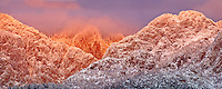 The sun sets on the Sandia Mountains of Albuquerque, New Mexico