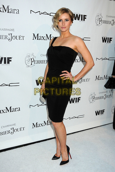 BRIANNA BROWN .3rd Annual Women In Film Pre-Oscar Party held at a Private Residence in Beverly Hills, California, USA, .4th March 2010..full length black dress hand on hip one shoulder strap shoes .CAP/ADM/BP.©Byron Purvis/AdMedia/Capital Pictures.