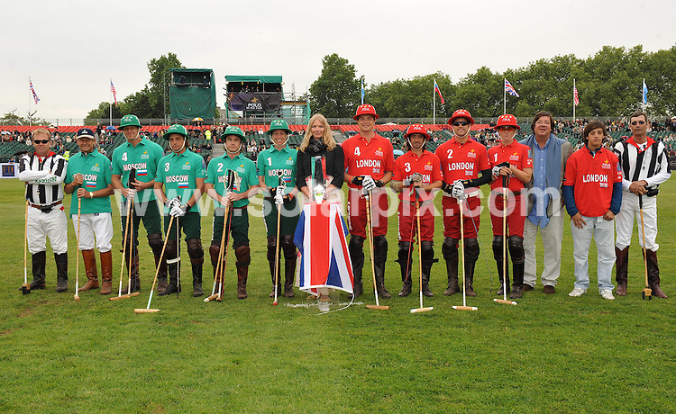 "**ALL ROUND PICTURES FROM SOLARPIX.COM**.**WORLDWIDE SYNDICATION RIGHTS**.Day 1 of The inaugural tournament of ""Polo in the park"" The World Polo Series London V Moscow at The Hurlingham Club  in Fulham, Central London...This pic:Jodie Kidd with the London & Moscow teams..JOB REF:9170       SSD     DATE:05.06.09.**MUST CREDIT SOLARPIX.COM OR DOUBLE FEE WILL BE CHARGED**.**ONLINE USAGE FEE GBP 50.00 PER PICTURE - NOTIFICATION OF USAGE TO PHOTO @ SOLARPIX.COM**.**CALL SOLARPIX : +34 952 811 768 or LOW RATE FROM UK 0844 617 7637**"