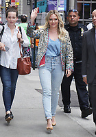 NEW YORK, NY - JUNE 19: Hilary Duff at Good Morning America promoting Younger on June 19, 2017 in New York City. Credit: RW/MediaPunch