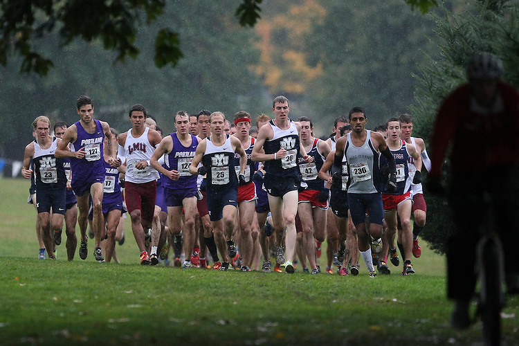 October 27, 2012; Portland, OR, USA; BYU Cougars, Portland Pilots, Loyola Marymount Lions Gonzaga Bulldogs Saint Mary's Gaels during the WCC Cross Country Championships at Fernhill Park.