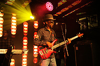 LONDON, ENGLAND - OCTOBER 5: Tony Robinson of 'Aswad' performing at Under The Bridge on October 5, 2018 in London, England.<br /> CAP/MAR<br /> ©MAR/Capital Pictures