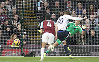 Everton's Gylfi Sigurdsson scores his side's third goal past Burnley's Joe Hart from the penalty spot<br /> <br /> Photographer Rich Linley/CameraSport<br /> <br /> The Premier League - Burnley v Everton - Wednesday 26th December 2018 - Turf Moor - Burnley<br /> <br /> World Copyright &copy; 2018 CameraSport. All rights reserved. 43 Linden Ave. Countesthorpe. Leicester. England. LE8 5PG - Tel: +44 (0) 116 277 4147 - admin@camerasport.com - www.camerasport.com