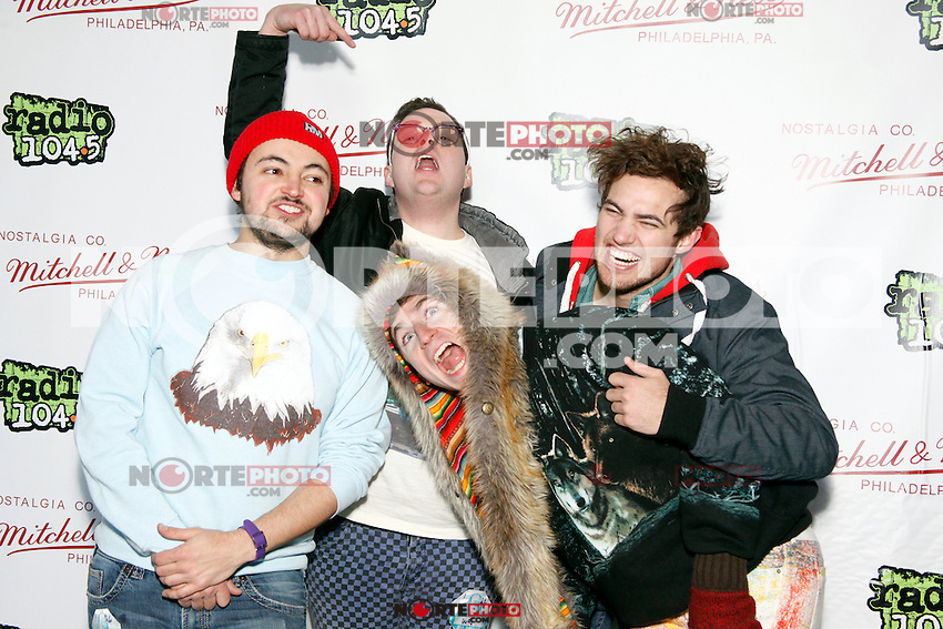 PHILADELPHIA, PA - JANUARY 26 :  Walk The Moon pictured backstage at Radio 104.5's Winter Jam at The Piazza in Philadelphia, Pa on January 26, 2013  © Star Shoter / MediaPunch Inc /NortePhoto /NortePhoto