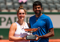 GABRIELA DABROWSKI (CAN), ROHAN BOPANNA (IND)<br /> <br /> TENNIS - FRENCH OPEN - ROLAND GARROS - ATP - WTA - ITF - GRAND SLAM - CHAMPIONSHIPS - PARIS - FRANCE - 2017  <br /> <br /> <br /> <br /> &copy; TENNIS PHOTO NETWORK