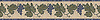 "8"" Vite border, a hand-cut stone mosaic, shown in polished Blue Bahia, Verde Luna, Verde Alpi, and honed Saint Richard."