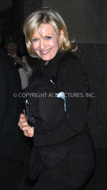WWW.ACEPIXS.COM *** NO U.K. NEWSPAPERS SALES ***....NEW YORK, MARCH 17, 2005....Diane Sawyer at the Spamalot opening night.....Please byline: R. BOCKLET-ACE PICTURES.   ..  ***  ..Ace Pictures, Inc:  ..Craig Ashby (212) 243-8787..e-mail: picturedesk@acepixs.com..web: http://www.acepixs.com