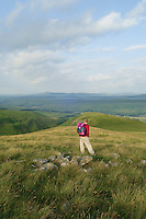 A walker on Hart Fell above Moffat, Dumfries and Galloway<br /> <br /> Copyright www.scottishhorizons.co.uk/Keith Fergus 2011 All Rights Reserved