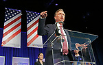 Hartford, CT-051918MK01 2018 Democrat Ned Lamont accepts his party nomination for governor at the 2018 Connecticut Democratic Convention in Hartford Saturday afternoon.  Michael Kabelka / Republican-American.