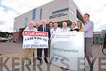 Liam Brassil, Friends of Kerry General Hospital, P.J. Hayes, Organising Committee Friends of Kerry General Hospital, Frank Hayes, Kerry Group, Declan Dowling, Manager Kingdom Geryhound Stadium, Tom McCormack, Surgeon Kerry General Hospital, William Cleary, Friends of Kerry General Hospital, Helena Moore, Clinical Director, Kerry General Hospital, Aoife O'Brien, Kerry Group, Martin Boyd ED Consultant Kerry General Hospital, launch the annual Friends of Kerry General Hospital  Gala Benefit Night at the Kingdom Greyhound Stadium on Friday 4th July 2014